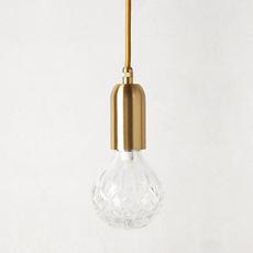 海德公园 Lee Broom 北欧简约个性艺术餐厅卧室装饰黄铜水晶吊灯