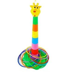 幼儿园儿童益智力玩具 长颈鹿投掷套圈圈 卡通套环 眼力训练玩具