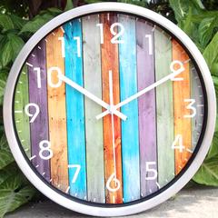 静音钟表客厅 包邮时尚挂钟 创意数字艺术壁钟 卧室大时钟金属表