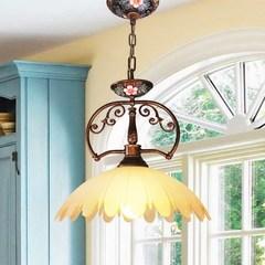 Abruzzo正品彩绘欧式灯饰 餐厅吊灯 田园卧室灯 专业手绘艺术灯具