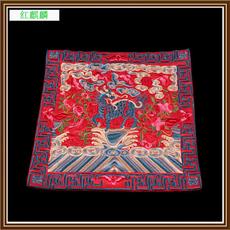 刺绣中式麒麟绣片餐巾碗碟垫方形隔热餐垫可制作服服绣片T恤装饰