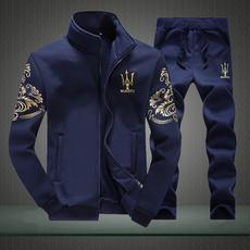 男士运动2016秋冬季新款韩版修身外套装男青少年休闲加绒卫衣男装