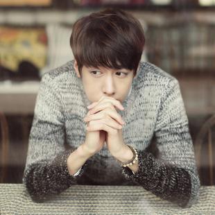 冬季男士毛衣套头外套秋季毛衣男长袖圆领针织衫韩版日系学生线衣