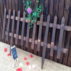 特价户外园艺用品碳化防腐实木篱笆大型田园围栏木栅栏小新品秒杀