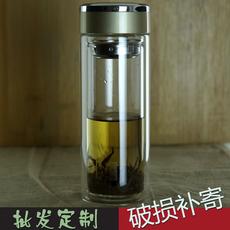 玻璃杯双层带盖杯子男女便携茶杯加厚防漏透明创意耐热水杯可定制