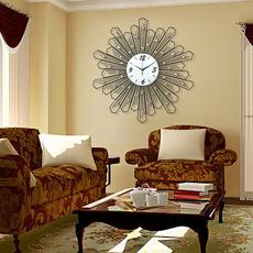 恋妆装饰钟表挂钟客厅现代简约创意时钟静音挂表石英钟 水晶之恋