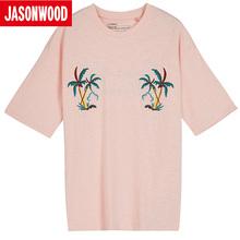 Jasonwood/坚持我的夏季男士时尚短袖T恤271103020