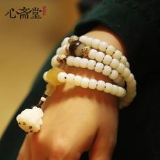 心斋堂【蜕变】高抛白玉菩提根手串108颗佛珠菩提子手链女士饰品