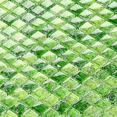 水晶绿色冰裂玻璃马赛克背景墙拼图卫生间踢脚线收银台装饰瓷砖贴