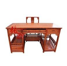 特价红木电脑台电脑桌刺猬紫檀花梨木实木书桌办公桌办公台写字台