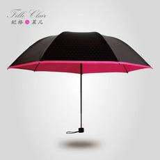 创意个性黑胶太阳伞防紫外线铅笔伞超轻遮阳伞防晒折叠晴雨伞包邮