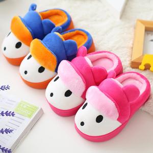 儿童棉拖鞋包跟秋冬季男童女童幼儿宝宝可爱毛室内小孩居家1-3岁儿童棉拖鞋