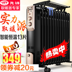 先锋取暖器电油汀家用DYT-Z2油汀电暖器电暖气片加宽13片电暖风机