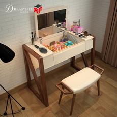 北欧实木梳妆台 简约卧室 白蜡木翻盖储物 小户型化妆台