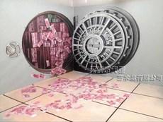 墙绘 手绘3D立体油画 超逼真3D印钱机 室内室外景区墙绘 商业墙绘