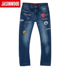 Jasonwood/坚持我的夏季男士时尚牛仔裤271117221