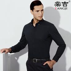 棠吉秋季衬衫男长袖白色商务休闲时尚青年男士衬衣修身大码男装