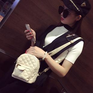 尙芙2016新款迷你双肩包女韩版小香风菱格背包潮流女包旅游小背包