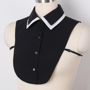 ETYE 秋冬季百搭假领子衬衫韩国女式时尚领子假领雪纺装饰衬衣领