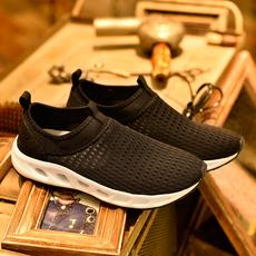 新款春季男鞋透气鞋网鞋男网面鞋休闲运动鞋男鞋子大码鞋46码4748