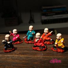 特色外事出国礼品送老外中国风家居装饰品时尚创意功夫小和尚摆件