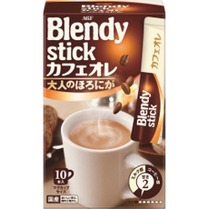 包邮 日本AGF blendy 深煎香浓牛奶 欧蕾味速溶咖啡 100g 10入