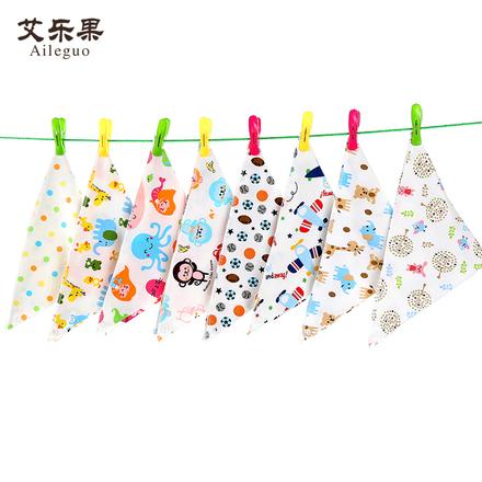 艾乐果 宝宝纯棉婴儿口水巾双层三角巾儿童围嘴 5/10条装