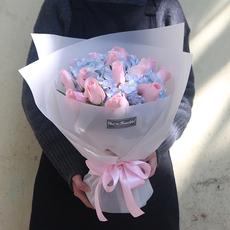 洛施美嘉广州深圳鲜花速递同城粉玫瑰花束生日朋友爱情花店配送