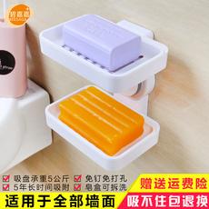 天天特价吸盘沥水皂盒架双层肥皂盒塑料皂托卫生间浴室置物架壁挂