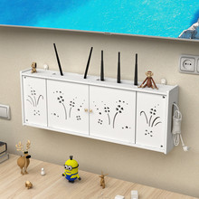 Wifi decoration of living room socket of wireless router receiving box wall-mounted TV set-top box shelf without punching