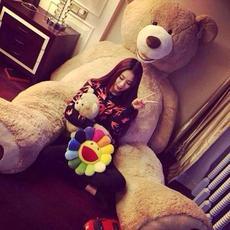 美国大熊超大号毛绒玩具泰迪熊生日礼物送女生朋友2米布娃娃公仔