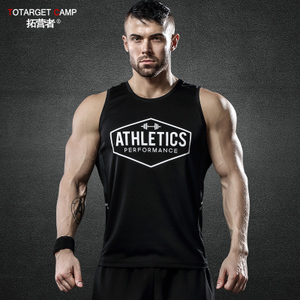 运动背心男跑步无袖健身衣夏季篮球训练服轻盈透气健身速干衣背心