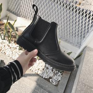 南在南方 韩国新款英伦风马丁靴学生平底靴简约短靴女靴女鞋秋冬女鞋