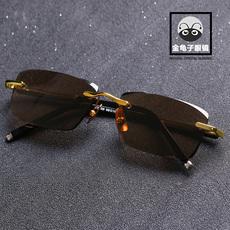 高档天然水晶眼镜男款 石头镜墨镜太阳镜无框护目送长辈正品