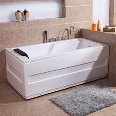 蓝海裙边浴缸 亚克力家用成人浴缸浴盆Q104款独立式按摩浴缸