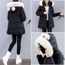 17冬装14少女装冬季羽绒棉服13高中初中学生15岁女孩16棉衣外套厚