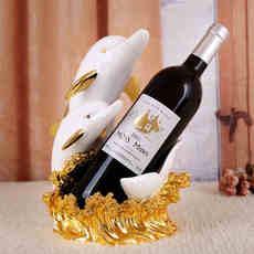 礼尚往来 海豚酒架摆件现代简约客厅创意家居酒柜吧台家装饰品