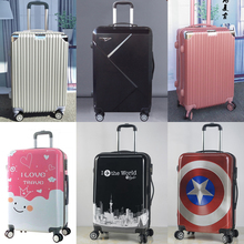 Cartoon cute suitcase universal wheel boys and girls pull rod suitcase luggage 20 inch 24 inch extended password 1