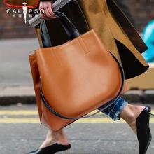 女士包包2018新款时尚大气容量手提包斜挎包真皮女包单肩包女大包