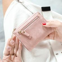 米印小钱包女短款学生韩版可爱2019新款ins简约多功能折叠零钱包