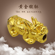 Famous jewellery pure gold to attract wealth ferrets transfer beads hand chain men and women 999 foot gold six-character true words beads