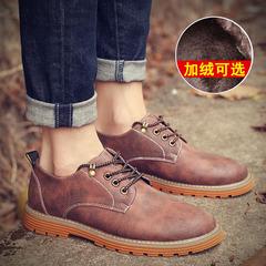 男士特大码马丁靴低帮英伦45男鞋子46加大号47加绒皮鞋48休闲冬季