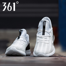361 Men's Shoes Sports Shoes Summer Mesh Air-permeable Running Shoes Leisure Shoes 361 Degree Small White Shoes Broken Mesh Shoes