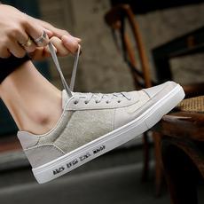 帆布鞋男鞋透气低帮休闲鞋韩版潮鞋青年个性运动鞋板鞋老北京布鞋