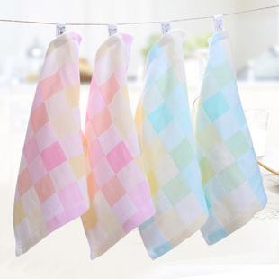 纱布方巾全纯棉幼儿园小毛巾双层婴幼儿童巾擦手巾挂式口水巾旅游