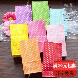 5个价小号波点无提手<span class=H>纸袋</span>方<span class=H>底</span><span class=H>环保</span>打包袋礼品包装袋糖果巧克力袋