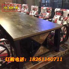 复古材质防烟头防火板网吧网咖桌椅沙发电脑桌专用网吧桌子网咖桌