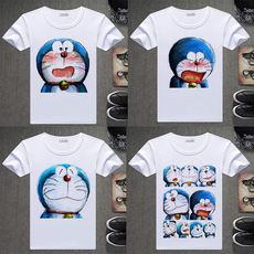 哆啦a梦t恤机器猫女版可爱卡通叮当印花短袖男女衣服情侣半袖衫