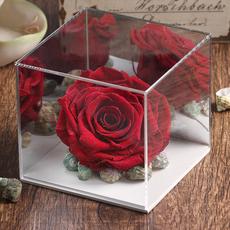 日本进口镜面亚克力花盒永生花保鲜花插花DIY花艺器皿情人节礼物