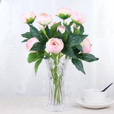 假花仿真花客厅摆放花艺套装 客厅卧室家居装饰花艺摆件 仿真绢花